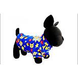 Собака Толстовка Одежда для собак На каждый день Геометрические линии Красный Синий Розовый Светло-синий