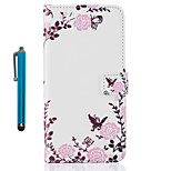 For Case Cover Pattern Full Body Case With Stylus Flower Hard PU Leather for Apple ipod Touch 5 Touch 6