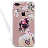 Dla jabłko iphone 7 7 plus okładka okładka sexy wzór piękna o wysokiej przepuszczalności akryl backplane tpu ramka malowana obudowa