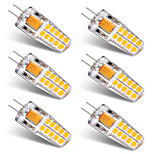 3W Luces LED de Doble Pin T 20 SMD 2835 300 lm Blanco Cálido Blanco V 6 piezas