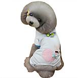 Собака Пижамы Одежда для собак На каждый день Животные Синий Розовый