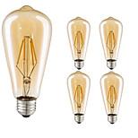 4W LED-hehkulamput ST64 4 COB 360 lm Lämmin valkoinen Kylmä valkoinen Koristeltu AC 220-240 V 5 kpl E27