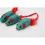 Игрушка для котов Игрушки для животных Жевательные игрушки Мышь сизаль