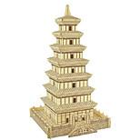 Пазлы 3D пазлы Строительные блоки Игрушки своими руками Квадратный Натуральное дерево