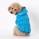 Собака Плащи Одежда для собак На каждый день Сплошной цвет Черный Кофейный Красный Синий