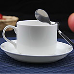 Bone Porcelain European Pure White Coffee Cup Set