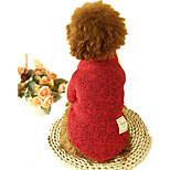 Собака Свитера Одежда для собак На каждый день Сплошной цвет Серый Кофейный Красный Зеленый