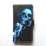 Hoesje voor Samsung Galaxy S6 edge plus s6 randhoes hoesje kaarthouder portemonnee met tribune flip patroon hoesje hoesje schedel hard pu