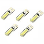 2W DC12V White T10 2COB Canbus Decorative Lamp Reading Light License Plate Light Door Lamp  5PCS
