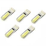 2w dc12v blanco t10 2cob canbus lámpara decorativa lámpara de luz luz de la placa luz de la puerta 5pcs