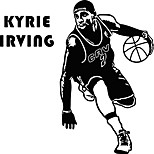 Kyrie Irving Basketball Player Vinyl Wall Stickers Famous Sports Athlete Star Wall Decals Home Decor For Kids Boys Room Bedroom