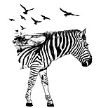 Cartoon Zebra Wall Stickers Birds Tree Horse PVC Wall Decals Home Decor For Baby Kids Room Living Room