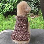 Собака Плащи Одежда для собак Сохраняет тепло Горох Черный Кофейный Зеленый