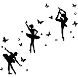 Ballet Famous Star Dancing Girl Wall Stickers Romantic Butterfly Vinyl Wall Decals   Yoga Sticker Home Decoration For Couple Room