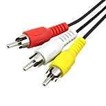 3RCA Кабель, 3RCA to 3RCA Кабель Male - Male 1.2m (4FT)