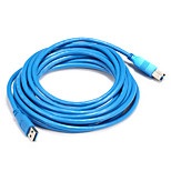 USB 3.0 Cable, USB 3.0 to USB 3.0 USB Type B Cable Male - Male 5.0m(16Ft)