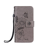 Case For Sony Xperia XZ X Compact Case Cover Card Holder Wallet with Stand Flip Embossed Full Body Case Butterfly Flower Hard PU Leather