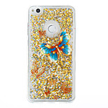 For Huawei P9 Lite P8 Lite Case Cover Butterfly Pattern Flash Powder Quicksand TPU Material Phone Case P8 Lite (2017)
