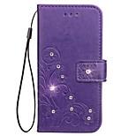 Przypadku samsung galaxy note 5 Uwaga 4 portfel rhinestone wytłoczony wzór pu skórzane etui dla Samsung Galaxy note 3
