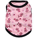 Собака Жилет Одежда для собак На каждый день Сердца Черный Розовый Цвет отправляется в случайном порядке