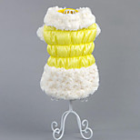 Dog Coat Dog Clothes Casual/Daily Solid Blue Yellow