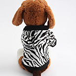 Dog Hoodie Dog Clothes Casual/Daily Zebra
