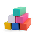 Pinpai Manicure 6 Colors Individual Color Sponge Down The Cubes on All Sides Grinding Down Nail Tools