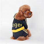 Собака Толстовки Комбинезоны Одежда для собак На каждый день Буквы и цифры Черный Розовый