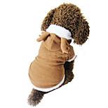 Собака Костюмы Одежда для собак Рождество Сплошной цвет Белый Коричневый Цвет отправляется в случайном порядке