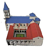 Пазлы 3D пазлы Строительные блоки Игрушки своими руками Квадратный