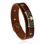 Retro Fashion Punk Accessories Genuine Leather Bracelet