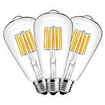 10W Żarówka dekoracyjna LED ST64 10 COB 1000 lm Ciepła biel Dekoracyjna AC 220-240 V 3 sztuki