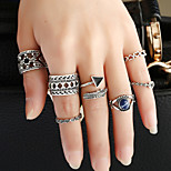 1Set Women's Ring Circular Metal Alloy Resin Alloy Circle Jewelry For Birthday Event/Party Date