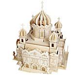 Пазлы Набор для творчества 3D пазлы Строительные блоки Игрушки своими руками Архитектура Другое Натуральное дерево