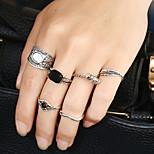 Жен. Классические кольца Кольцо манжета кольцо Стразы Круглый дизайн Мода Панк Хип-хоп RockМеталлический сплав Резина Смешанные материалы