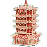 Пазлы 3D пазлы Строительные блоки Игрушки своими руками Прямоугольный Натуральное дерево