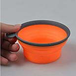Собака Миски и бутылки с водой Животные Чаши и откорма Компактность Прочный Оранжевый Лиловый