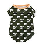 Собака Футболка Одежда для собак На каждый день Черепа Охотничий зеленый