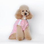 Собака Дождевик Одежда для собак На каждый день Сплошной цвет Зеленый Розовый