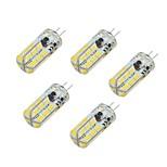 4.5W Двухштырьковые LED лампы T 48 SMD 4014 350-500 lm Тёплый белый Холодный белый V 5 шт.