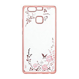 Case For Huawei P10 Plus P10 Lite Case Cover Rhinestone Plating Pattern Back Cover Case Flower Soft TPU for Huawei P10 P9 Lite P8 Lite 2017 P8