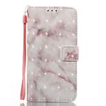 Dla samsung galaxy a3 (2017) a5 (2017) pokrowiec obudowa beżowy marmur wzór 3d malowany portmonetka stent portfel telefon komórkowy