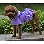 Собака Плащи Одежда для собак Сохраняет тепло Сплошной цвет Черный Лиловый Пурпурный Зеленый Розовый