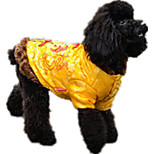 Собака Толстовка Одежда для собак На каждый день Буквы и цифры Желтый Красный Синий