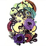 Temporary Tattoos Arm Back Totem Series 3D Waterproof Tattoos Stickers Non Toxic Glitter Large Fake Tattoo Body Jewelry  Halloween Gift 22*15cm