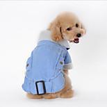 Собака Плащи Одежда для собак На каждый день Американский / США Кофейный Коричневый Зеленый Синий