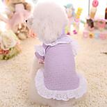 Собака Платья Одежда для собак Сохраняет тепло Принцесса