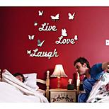Романтика Отдых Наклейки Зеркальные стикеры Декоративные наклейки на стены,Акрил материал Украшение дома Наклейка на стену