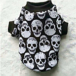 Dog Coat Sweatshirt Dog Clothes Casual/Daily Skulls Black/White