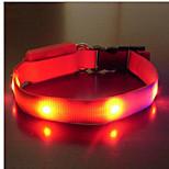 Ошейники Компактность LED подсветка Безопасность Регулируется Однотонный Нейлон